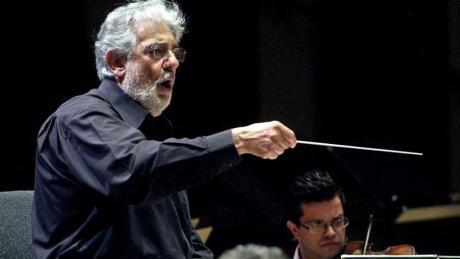 Plácido Domingo y la Orquesta de la Comunidad Valenciana en Les Arts.