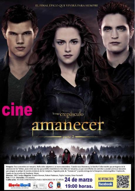"""Cine en el Centro Cultural de Onil: """"Amanecer parte 2"""""""
