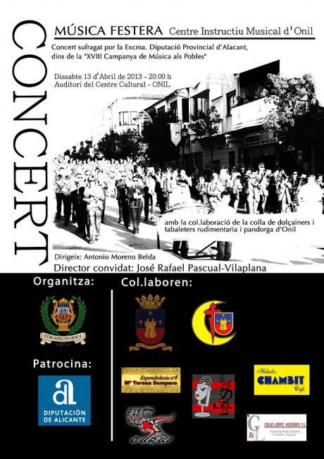"""Concierto de """"Música Festera"""" Onil 2013"""