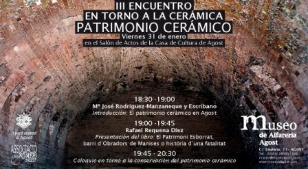 III Encuentro en Torno a la Cerámica. Patrimonio Cerámico