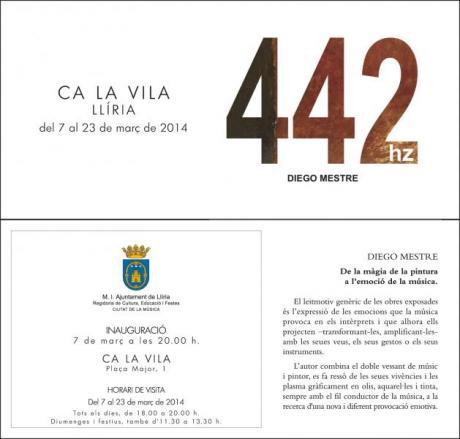 Inauguració de l'exposició de pintura de l'artista Diego Mestre