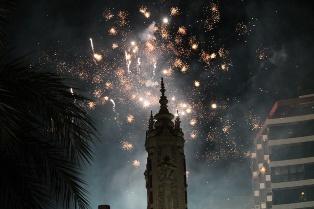 Mascletás nocturna Hogueras de Alicante 2014