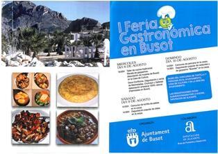 I Fería Gastronómica en Busot 2014