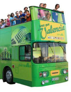 """Valencia-Día Mundial del Turismo DMT-2014-""""Se turista en tu ciudad""""- Bus turísticos urbanos"""