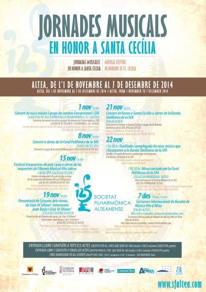 JORNADES MUSICALS EN HONOR A SANTA CECILIA