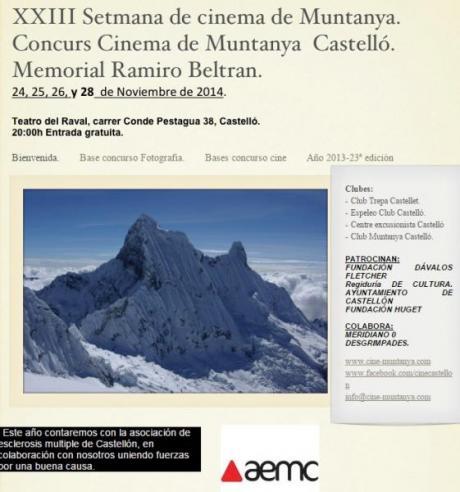 XXIII Semana de Cine de Montaña, Castellón 2014
