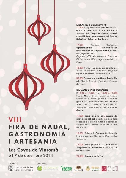 Feria de Navidad, gastronomía y artesanía en Les Coves de Vinromà