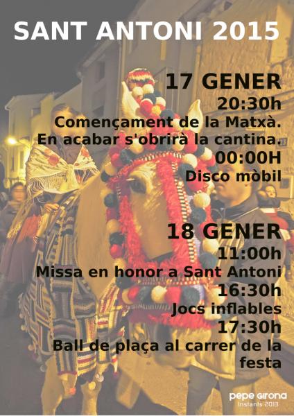 Festividad de San Antonio Abad en Benlloch