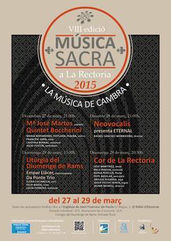 VIII  Música Sacra en La Rectoria 2015