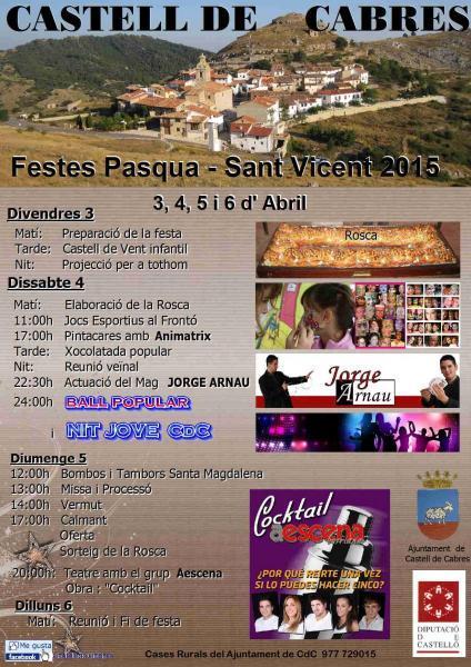 Fiestas de pascua San Vicente 2015 de Castell de Cabres