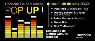 Día Internacional de la Música. Concierto Pop Up frente al Centro Cultural Bancaja