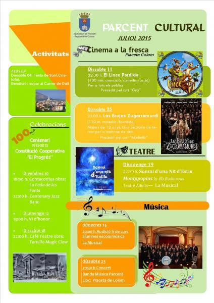 Cultural events in Parcent