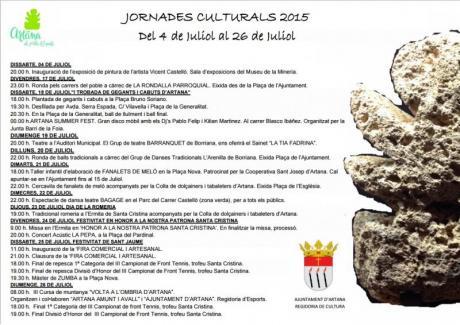Jornadas culturales de Artana