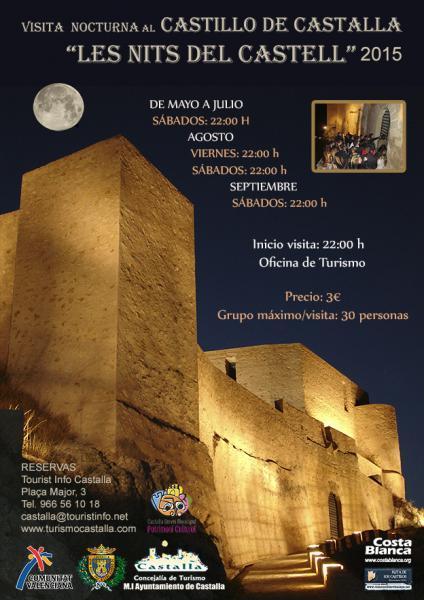 Visitas nocturnas al Castillo de Castalla 2015