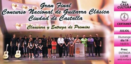 Final Concurso Nacional Guitarra Clásica Castalla 2015