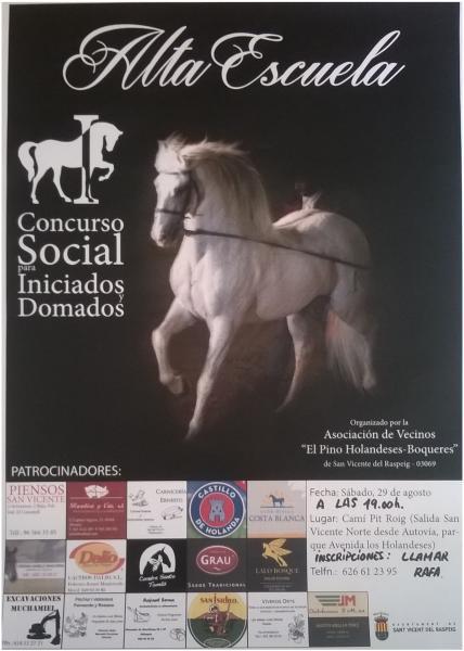Alta Escuela. I Concurso Social para Iniciados y Domados