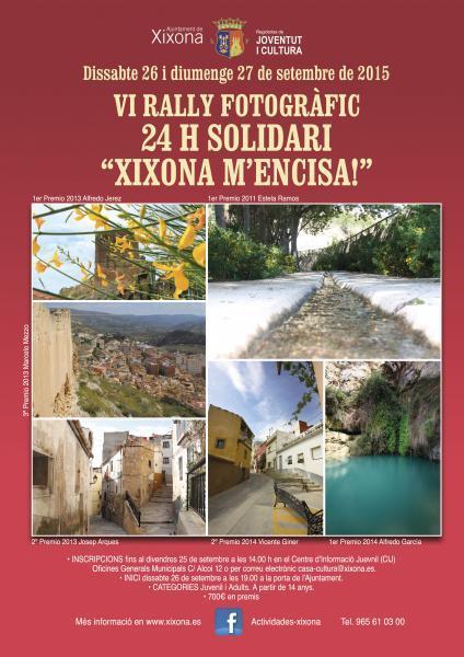"""VI Rally Fotográfico 24h solidario """"Xixona m'encisa!"""""""