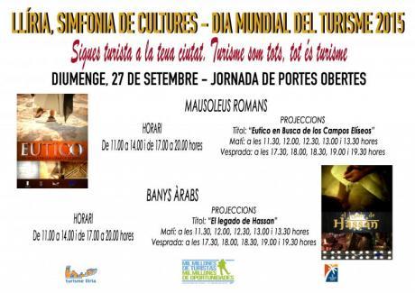 """Llíria – Día Mundial del Turismo DMT-2015 – """"Sé turista en tu ciudad""""."""