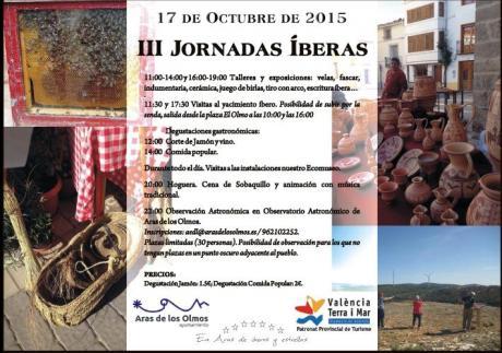 III JORNADAS ÍBERAS en Aras de los Olmos 2015