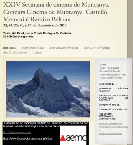 XXIV Semana de cine de montaña, Castellón