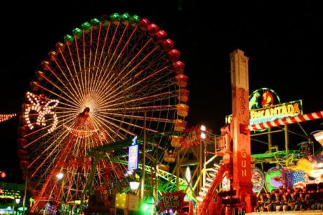 Feria de atracciones, en Castellón
