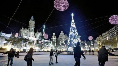 Pista de Patinaje de Hielo en la Plaza del Ayuntamiento
