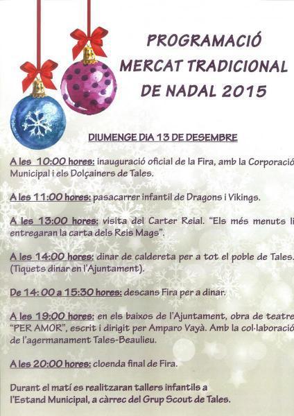 VIII Mercat Tradicional de Nadal de Tales