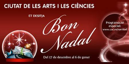 Paseo navideño en la Ciutat de les Arts i les Ciències