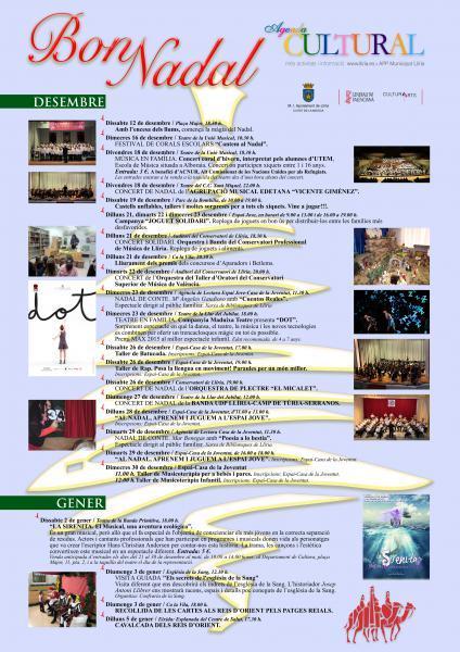 AGENDA D'ACTES DE NADAL 2015-16 LLÍRIA