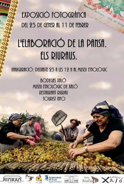 """Photo exhibition in Xaló. """"L'elaboració de la pansa. Els Riuraus"""""""