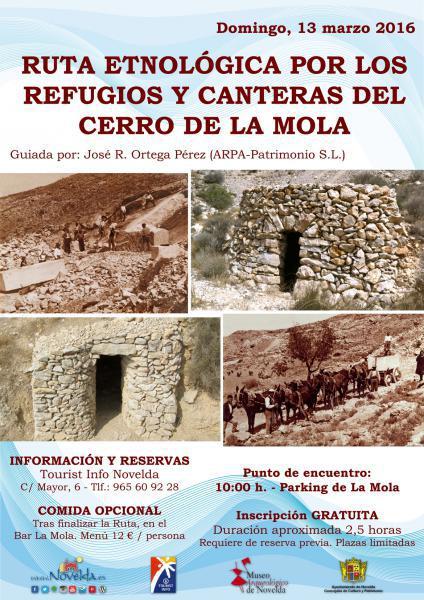 Ruta Etnográfica por los refugios y canteras del Cerro de La Mola