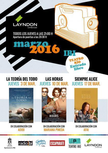 Club de Cine Layndon mes de Marzo en Ibi