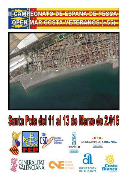 II Campeonato de España de Pesca Open Mar - Costa Categoría Veteranos (+55) Captura y Suelta en Santa Pola