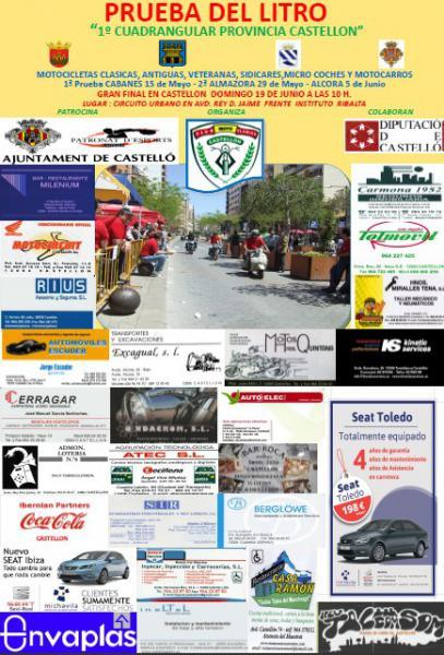 XIII Trofeo Prueba del Litro 2016. I Cuadrangular Provincia de Castellón