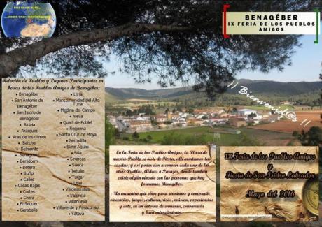 BENAGÉBER- IX Feria de los Pueblos Amigos y Fiesta de San Isidro Labrador mayo 2016