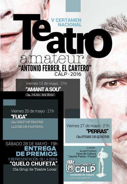 """V Certamen Nacional de Teatro Amateur """"Antonio Ferrer, el cartero"""""""