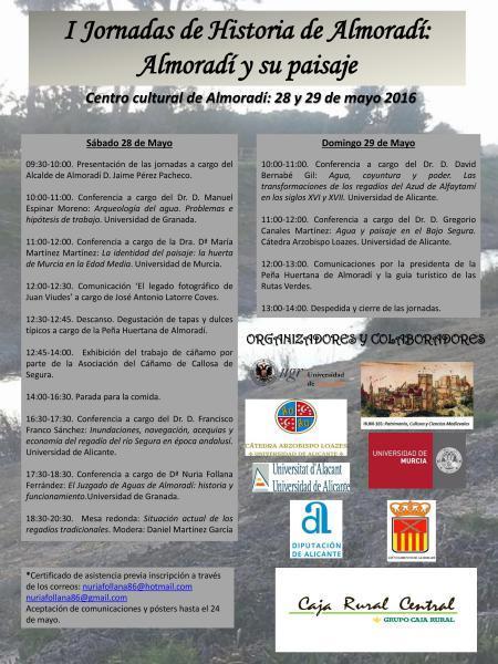 1ª Jornada de Historia de Almoradí