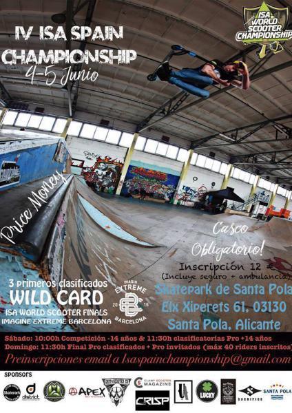 IV Campeonato España ISA en Skate Park Santa Pola
