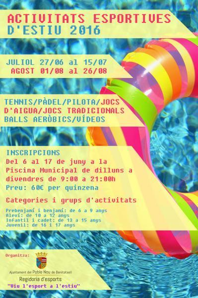 Actividades deportivas de verano 2016