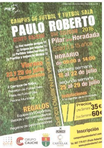 CAMPUS DE FÚTBOL Y FÚTBOL SALA ONE TELECOM DE LA MANO DE PAULO ROBERTO EN PILAR DE LA HORADADA 2016