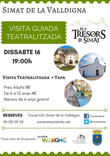 """Visita Teatralizada """"Els Tresors de Simat"""". Simat de la Valldigna"""