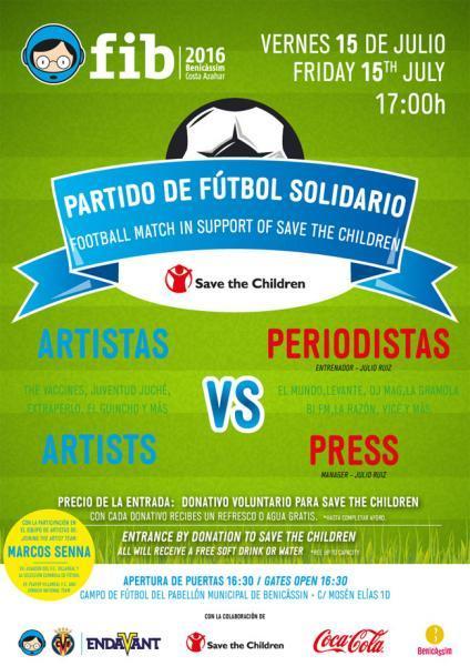 Partido de fútbol solidario FIB