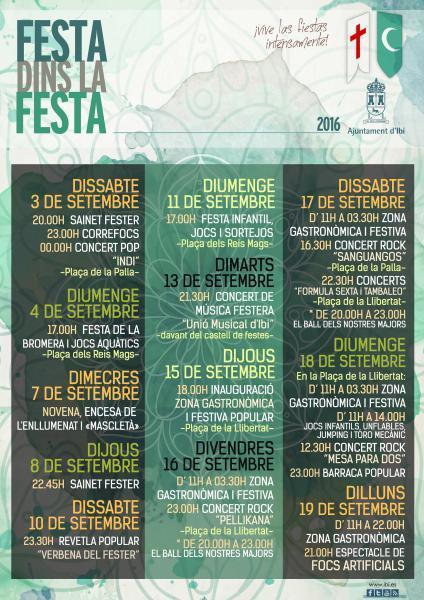 """Ibi prepara una completa """"Festa dins la Festa"""" para los Moros y Cristianos de 2016"""