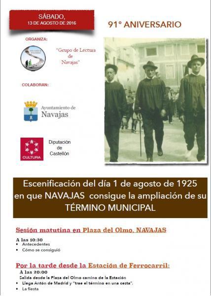91 aniversario de la ampliación del término municipal de Navajas