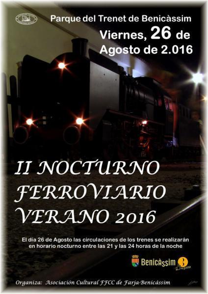 II Encuentro nocturno ferroviario verano 2016