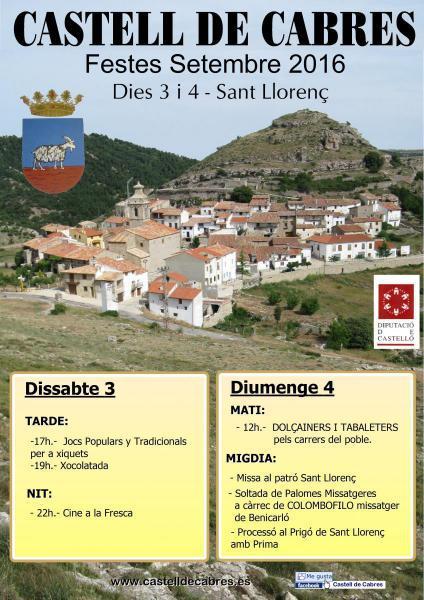 Fiestas Mayores de San Lorenzo en Castell de Cabres