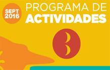 Programa Actividades Septiembre 2016
