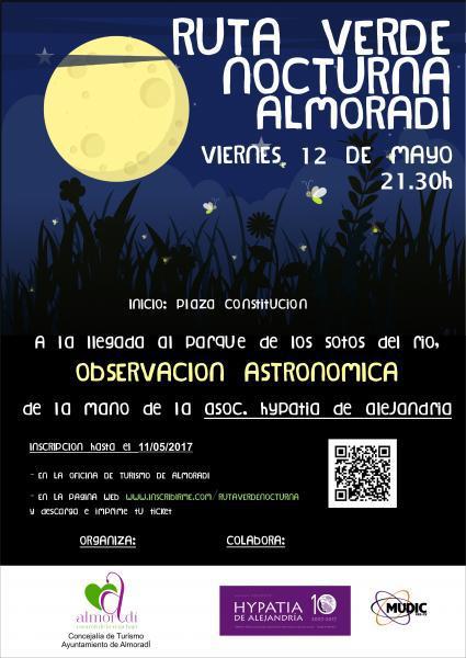 Ruta Verde Nocturna en Almoradí