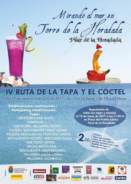 """IV Ruta de la Tapa y el Cóctel """"Mirando al mar en Torre de la Horadada"""""""