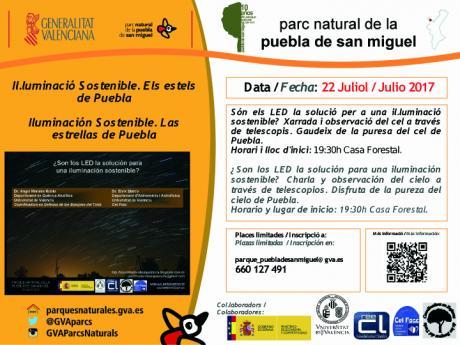 Iluminacion sostenible. Las estrellas de Puebla